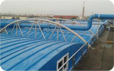 常熟印染企业污水池加盖恶臭AG环亚集团处理项目